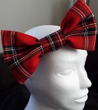 Bandeau large tartan rouge royal stewart 7 in (environ 17.78 cm) Big Hair Bow Femmes Filles Neuf