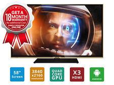 """SONIQ 58"""" Ultra HD LED Smart TV (Refurbished) Model: T2U58V14A"""