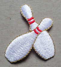 BOWLING PINS IRON ON PATCH