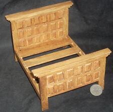 Dollhouse Miniature Mexican Hacienda Double Bed MAF2201 (6 Panel) Furniture 1:12