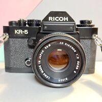 Ricoh KR 5 35mm SLR Film Camera + 1:2 50mm Lens Working Lomo! Retro!