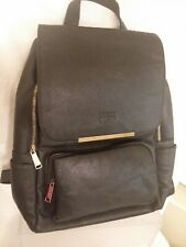 COOFIT Black Leather Backpack Schoolbag Casual Daypack Backpack for Women EUC