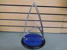 STAR TREK The Franklin Mint U.S.S. ENTERPRISE Crystal Sculpture BASE ONLY -DH716
