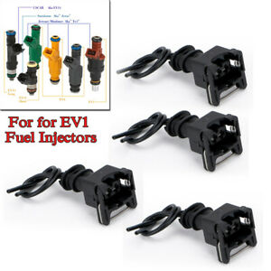 4PCS / Set Fuel Injector Connector Wiring Plugs Clips Fit EV1 OBD1 Interface