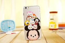 New Cute Cartoon Crystal Clear TPU Soft Case Cover for iPhone 6 6Plus 4S 5S
