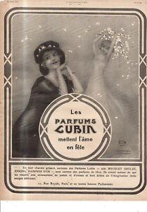 1914 Raphael Kirchner Parfums Lubin Original Art Nouveau ad - Very Rare