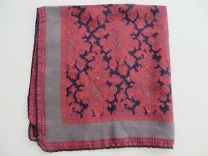 """Vintage Men's Pocket Square Hand Rolled Silk 19"""" NOWT"""
