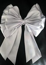 "Xmas tree top bow  Silver Satin Ribbon 8"" wide"