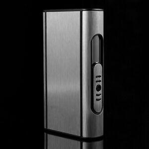 Aluminum Automatic Ejection Cigarette Box Windproof Ciga Pocket Holde Case I2A5