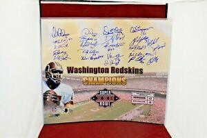 Washington Redskins SIGNED AUTOGRAPH SB XXII 20X24 Photo W/23 AUTO'S - SCH Auth