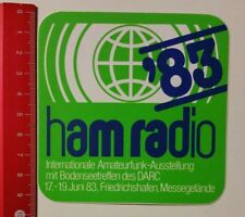 Aufkleber/Sticker: ham radio '83 Internat. Amateurfunk-Ausstellung (050417162)
