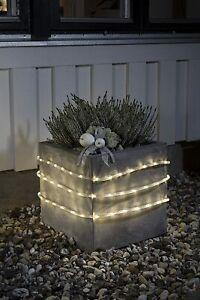 TUBO LUMINOSO A LED DA ESTERNI 6 metri con sensore e timer luci natale natalizie