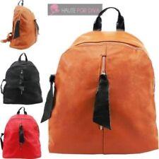 Faux Leather School Zipper Bags & Handbags for Women