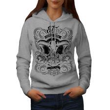 Wellcoda Chupacabra Fantasy Womens Hoodie, Sacrifice Casual Hooded Sweatshirt