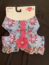 New listing smoochie pooch Dog harness Flower Print Size Small New