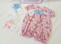 SALE Baby Girl Traditional Kinder Boutique Spanish Pink Cupcake Romper 3-6 month