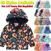 ⭐Toddler Baby Boy&Girls Winter Cartoon Windproof Coat Hooded Kids Outwear Jacket