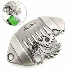 Hephis Keychain Bottle opener Football Sawtooth Key Ring Silver Fashion Gift