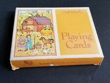 Current Bridge Set Playing Cards Barn Farm design 100% Complete Excellent Cond.