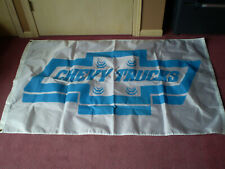 Chevrolet Banner Flag 3x5Ft Chevy Car Truck Racing Flag Wall Garage Blue White