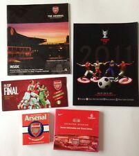 Arsenal-libro, programma, Biglietto cartella e l'appartenenza Magazine! AFFARE LOTTO!