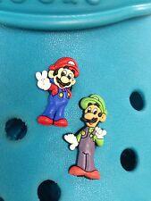 2 Mario & Luigi Scarpa CHARMS PER Crocs & Jibbitz GEMELLI.