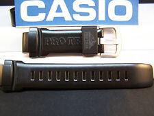 Casio Watch Band PRW-5050 Polished Shiny Black Resin Strap / Watchband