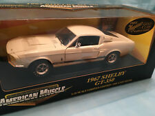1967 MUSTANG SHELBY GT-350 WHITE BY ERTL 1/18 AMERICAN MUSCLE LIMITED EDITION