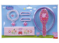 Girls PEPPA PIG 7 pezzi di capelli Accessorio Pack-fantastico regalo ideale per bambina Fan