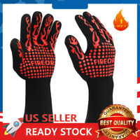 BBQ Grill Gloves 1472°F Extreme Heat Resistant Grilling Non-Slip Oven Mitts New