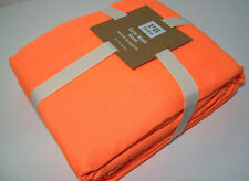 Pottery Barn Teen Color Wash Bright Neon Orange Cotton Twin Duvet Cover New
