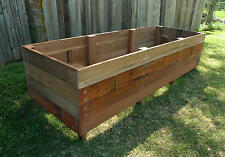 Raised Timber Garden Beds - 100% natural Hardwood planter boxes - 1800x600x400