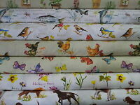 "Prestigious Textiles ""Country Fair"" 100% Cotton Curtain Upholstery Fabric"