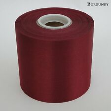 "4"" Wide Burgundy Ceremonial Ribbon for Grand Opening Ceremony 50 Yard Roll"