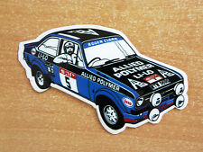 ROGER Clark FORD ESCORT MK2 RALLY / Motorsport Adesivo Decalcomania