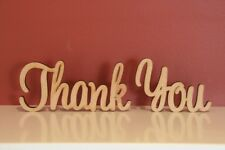 Medium Size Freestanding Wooden Words Thank You Sign 10cm Tall