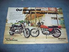 """1980 Suzuki GS550 Vintage 2-Page Ad """"Our Canyon Cat and it's Cruisin' Cousin"""""""