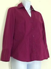 Ann Taylor Womens Dress Shirt Blouse Size 2 Purple Color Cotton Blend Button Up