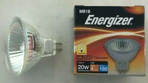 5 x Energizer 12v 16W = 20W Dichroic MR16 GU5.3 Halogen Bulb 51MM M269 S5412