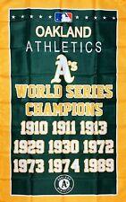 Oakland Athletics World Series Championship Flag 3x5 ft MLB Sports Banner A's
