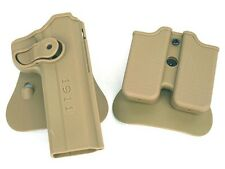 Retention Roto Holster and Double Magazine Carrier Set Pistol Holster Fits 1911