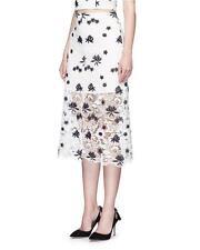 Alice & Olivia White Black  Lace Ophelia Maxi Skirt $298 NWT 6