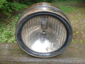"1920's 1930's Maxwell Headlight & original Spreadlight Glass Lens 9"" wide Drum"