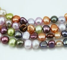 6-7mm Orange Lime Berry Mixed Colour Baroque Nugget  Freshwater Pearls Beads