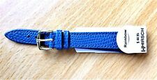 "Hirsch 14mm-Royal Blue Leather Band-""Rainbow""-G/PLATED BUCKLE-Water Resistant"