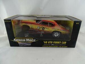 1:18 ertl American Muscle Thunder #33058 1968 Gto Funny Car Arnie Beswick #