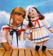Doll Knitting Pattern Sailor Girl Vintage Stuffed Toy Doll Pattern Knitting