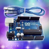 HOT UNO R3 MEGA328P ATMEGA16U2 Entwicklungsboard for Arduino + USB Kabel SGHS^