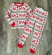 Boys Girls HANNA ANDERSSON Reindeer Pajamas Sleep Set Sz 130 8 Christmas Holiday
