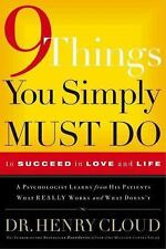 Nine Things You Simply Must Do: To Succeed in Love and Life Hardcover NEW